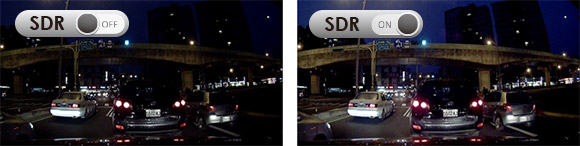 Dashcam with high videoquality because of SDR technology