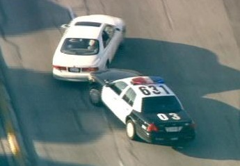 PIT maneuver by police to stop a getaway car