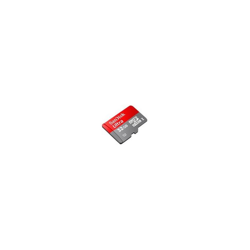 SANDISK microSDHC Ultra 32 GB - class 10 geheugenkaart met adapter